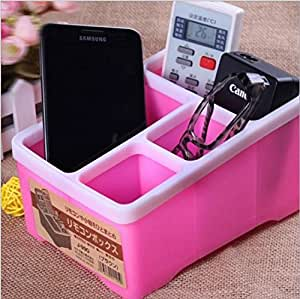 Evana (pink colour) MultiPurpose Desktop Caddy Organizer Remote control Makeup Cosmetic Hair Accesories Jewelry Sunglasses Optical Frame Stationary Pen stand For TV Air Conditioner AC Mobile Phone sony Iphone 5 6 6S 7 7s 5SE Samsung S6 S7 ON5 J7 J3 Oneplus X one two lg blueray philips rack holder For Home Office Kitchen