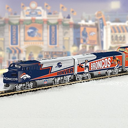 Collectible Nfl Football Denver Broncos Express Electric Train Collection - Subscription Plan