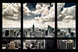 New York Window Poster Art Print