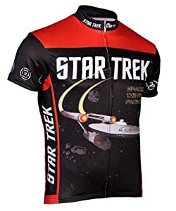 Star Trek Cycling Jersey by Retro Image Mens Short Sleeve by Retro Image Apparel