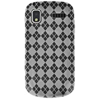 Amzer AMZ89963 Luxe Argyle High Gloss TPU Soft Gel Skin Case for Samsung Focus I917 (Clear)