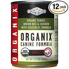 Castor & Pollux Organix Canine Formula, Made With 95% Organic Ingredients, Turkey, Brown Rice & Chicken With Vegetables, 12.7 Ounce Tins (Pack of 12)