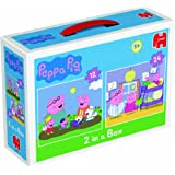 Peppa Pig Duo Jigsaw Puzzles (12 and 24 Pieces)by Disney