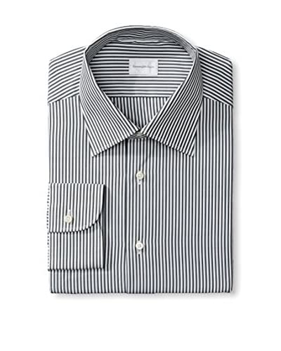 Zegna Men's Stripe Dress Shirt