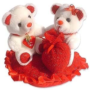 Grabadeal Teddy Couple On A Heart