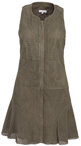 Intropia Damen Lederkleid Mit Lochmuster Khaki, Größe 34 (ES 36)