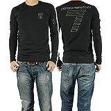 (エンポリオアルマーニ)EMPORIO ARMANI EA7 メンズロングTシャツ 273703 4A206 ブラック [並行輸入商品]