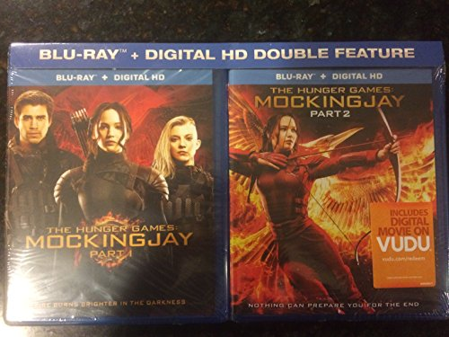 The Hunger Games: Mockingjay Part I and II Blu-ray +Digital Double Feature