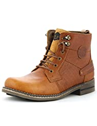 Lee Fog Mens Tuff Genuine Leather High Anklet Tan Genuine Leather Casual Boots