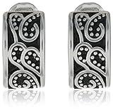 "Napier ""Napier Classics"" Silver-Tone Paisley Textured Clip Earrings"