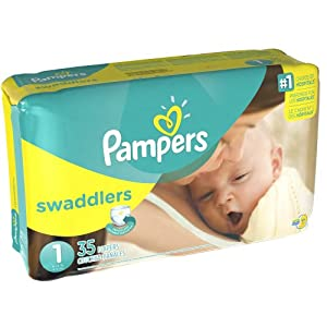 Pampers Swaddlers, Size 1, 35 Count