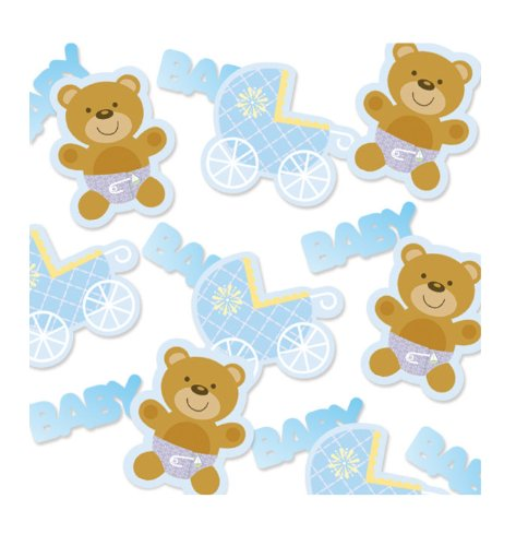 Creative Converting Baby Shower Teddy Baby Blue Confetti