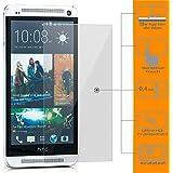 Saxonia. Displayschutz Folie aus Gehärtetem Glas für HTC One M7 Kratzfest und bruchsicher | Panzerfolie - Härtegrad 9H | HD Klar Transparent