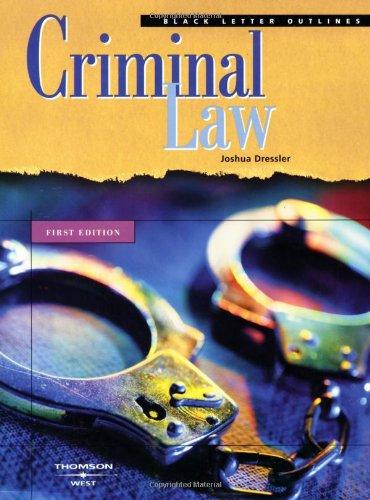 Criminal Law (Black Letter Outline)