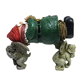 Garden Gnome Kidnapped By Gargoyles Gnappers Lawn Sculpture Outdoor Yard Statue Decor