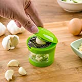 Generic 2016 New Multifunction Plastic Garlic Press Presser Crusher Slicer Grater Dicing Slicing And Storage Kitchen Vegetable Tools