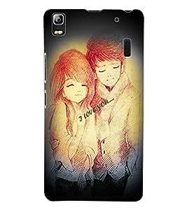 ColourCraft Love Design Back Case Cover for LENOVO A7000