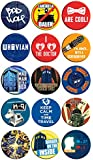 Set of 15 Doctor Who Series TV Television Show 1.25 Inch Button Badge Pins