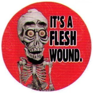 Flesh Wound Red - Button Made From Heavy Duty Materials - 1