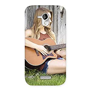 Guitar Girl Back Case Cover for Micromax Canvas HD A116
