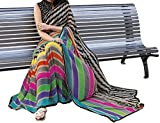 Shree Fashion Hub Printed Multicolor Bhagalpuri Silk Saree With Blouse Piece