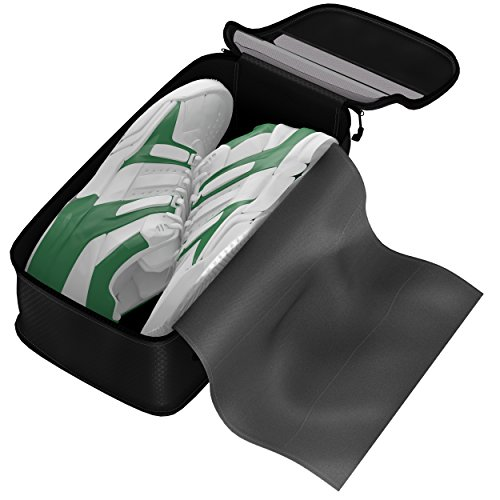 Dot&Dot - Shoe Bag - Convenient Packing System For Your Shoes When Traveling - Space Saver Bag - Protects Your Clothes From Dirt And Smell Of Your Shoes - Easy And Quick Access To Your Shoes While You Travel (Black)