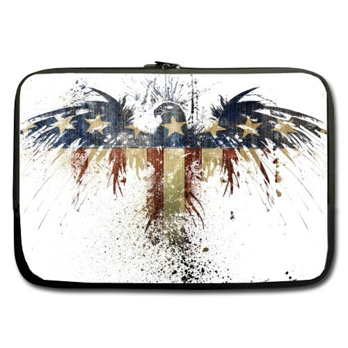 Eagle Laptop Bag - 13 13.3 Inch American flag and eagle Notebook/MacBook Pro/MacBook Air Laptop Sleeve Bag Two Sides zimoon felt laptop sleeve bag notebook case computer smart cover handbag for 11 13 15 macbook air pro retina