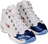Allen Iverson Philadelphia 76ers Autographed White & Blue Reebok Question Sneakers - Limited Edition of 30- Upper Deck - Fanatics Authentic Certified