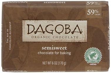 Dagoba Organic Semisweet Baking Chocolate Baking Bar (59% Cacao), 6-Ounce Bars (Pack of 5)
