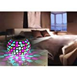 Exlight Solar Powered Mosaic Glass Ball Garden Lights Color Changing Solar Lawn Courtyard Light Waterproof Automatic Operation Solar Outdoor Lights for Parties Decorations Christmas 2 Color Modes Red & Blue
