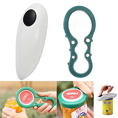 Aestar Electric Automatic One Touch Can Opener (White) (One Button Can Opener compare prices)