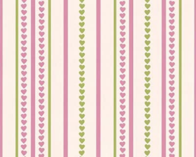 As Cration 1728-15 Wallpaper Little Hearts Green And Pink from A.S. Creation