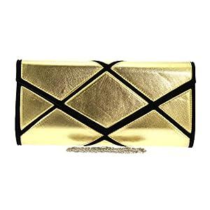 Girly HandBags Women's Mosaic Oversized Clutch Bag -- Gold