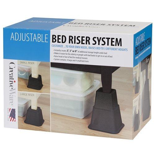 Fantastic Deal! Creative Bath Products Adjustable Bed Riser System, Set of 8