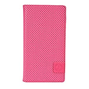 Jo Jo Big Bang Series Cover Leather Pouch Flip Case For Intex Aqua Slice 2 Pink Blue