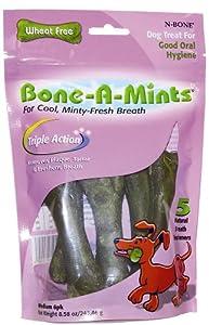 Bone-A-Mints All natural, Wheat-Free Breath Freshening Bone, 5.60-Ounce, Mini, 16-Pack 6ct (6 Bags)