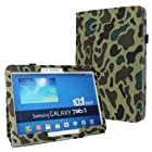 W-RainBow Newest Arrival Animal Camouflage Pattern Series Military Uniform Folio Diary Stand Leather Protective Case for Samsung Galaxy Tab3 10.1 Tablet P5200 P5210(Random Gift 1 Piece Car Sticker)