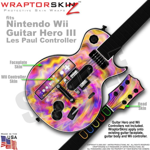 Tie Dye Pastel Skin by WraptorSkinz TM fits Nintendo Wii Guitar Hero III (3) Les Paul Controller (GUITAR NOT INCLUDED)
