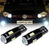 2x W5W T10 6x 5630SMD Standlicht CanBus LED Xenon Look Parklicht Weiß für Volkswagen VW