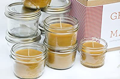 Mason Jar Beeswax Candle Making Kit-6 Candle Set