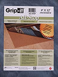 Grip-It All Stop Cushioned Non-Slip Rug Pad for Rugs on Hard Surface Floors, 9 by 12-Feet