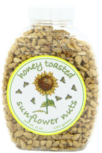 Sunflower Food and Spice Co, Honey Toasted Sunflower Nuts, 6-Ounce Jars (Pack of 6)