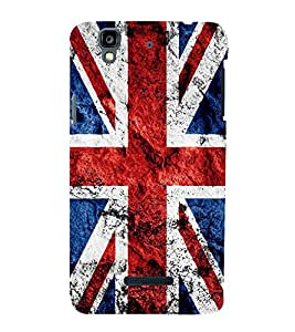 UK Flag 3D Hard Polycarbonate Designer Back Case Cover for YU Yureka :: YU Yureka AO5510