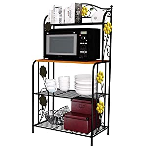 Yontree Kitchen Storage Rack Oven Holder Vintage Cookware Gathering Shelf
