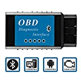 Goliath Industry OBDII OBD2 Bluetooth Auto Diagnostic Scan Tool - Engine Light Check Wireless Data Feed To Your Cell Phone -- Bluetooth Scanner Exclusively Compatible With Android & Windows Devices