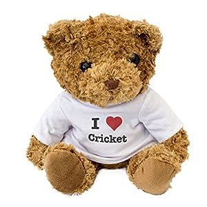 NEW - I LOVE CRICKET - Teddy Bear - Cute And Cuddly - Gift Present Birthday Xmas by London Teddy Bears