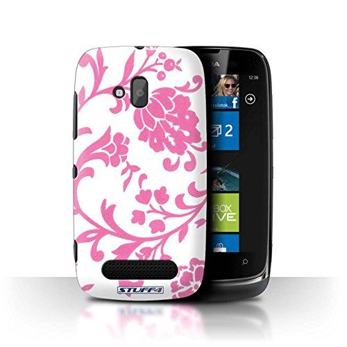 Stuff4 Hülle / Hülle für Nokia Lumia 610 / Rosa Blume Muster / Blumenmuster Kollektion