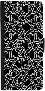 Snoogg Weird Pattern 2507 Designer Protective Flip Case Cover For Moto-G