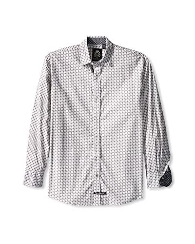 English Laundry Men's Micro Check Long Sleeve Sport Shirt