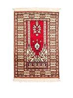 QURAMA Alfombra Kashmir Rojo/Multicolor 95 x 61 cm